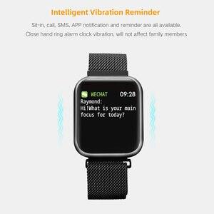 Image 5 - Smartwatch P80 + سماعات + حزام/مجموعة ساعة ذكية الرجال النساء جهاز تعقب للياقة البدنية IP68 مقاوم للماء دعوة رسالة تذكير ل IOS أندرويد