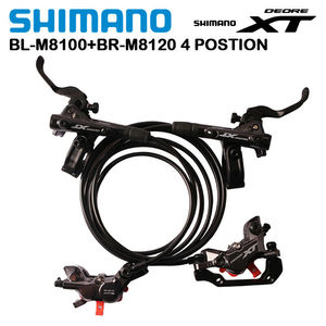 Image 1 - Shimano XT M8020 M8120 4 Piston Mountain Bike Bicycle Hydraulic Disc Brake For MTB Bike Downhill DH D03S H03C N03A N04C Pads