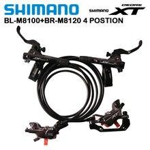 Shimano XT M8020 M8120 4 pistons VTT frein à disque hydraulique pour vtt vélo descente DH D03S H03C N03A N04C plaquettes