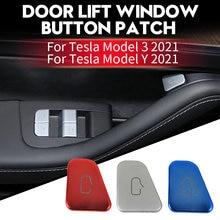 Para tesla model 3 2021 & model y 2021 decoração interior adesivo interruptor da janela maçaneta da porta lembrete adesivo 11 pçs/set