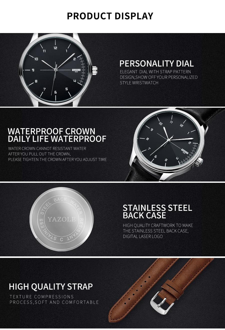 H7041bd679d764922897a3d8e2a59f082w Yazole Watch simple stylish business