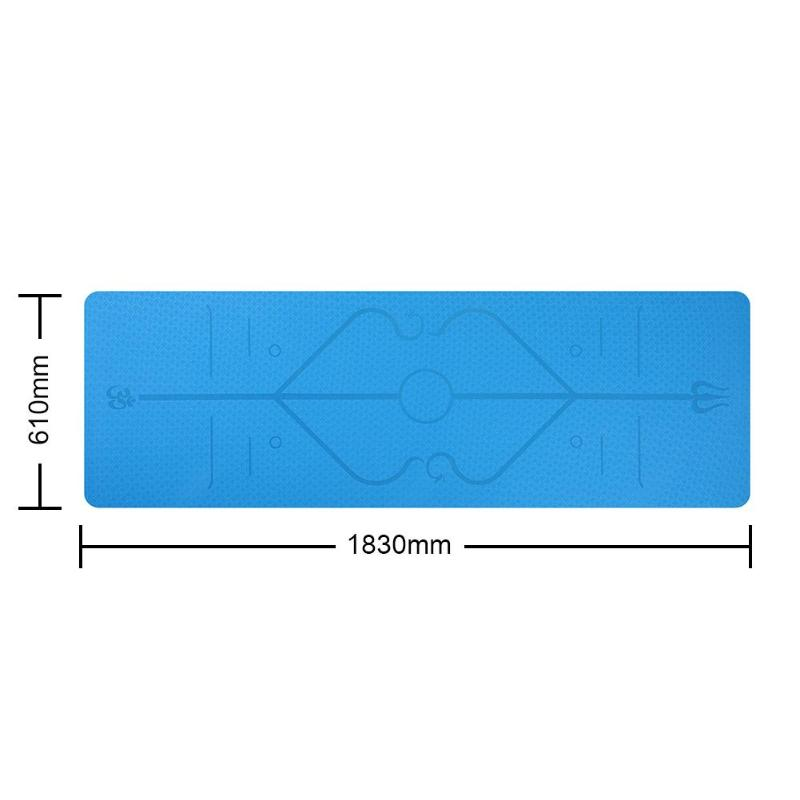 TPE Fitness Yoga Mat Tasteless Anti-slip Sports Gym Pads with Position Line For Beginner Environmental Fitness Gymnastics Mats