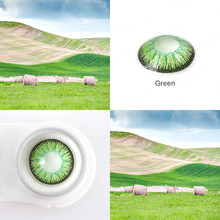 1 par (2 uds.) de lentes de contacto de Color azul, rojo, Gris, Verde