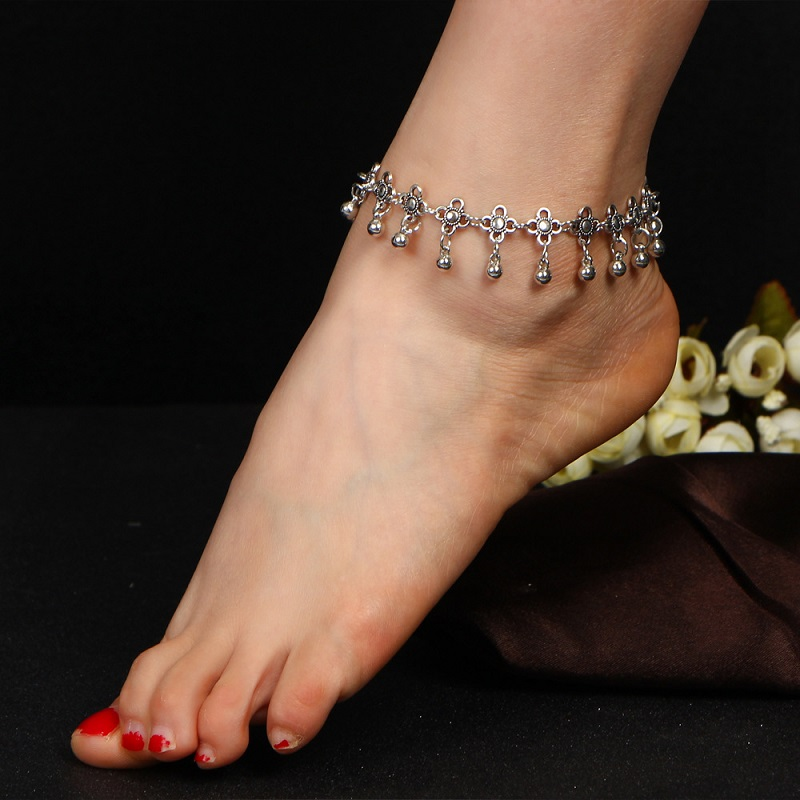 New retro anklet bracelet foot ornaments retro ankle pendant jewelry bracelet fashion jewelry