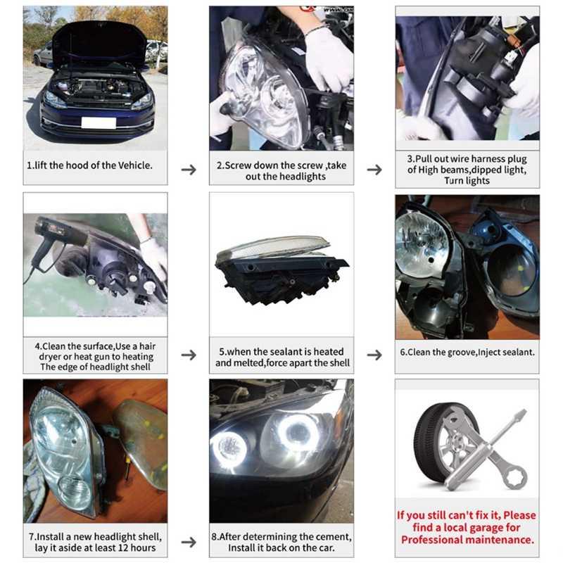 ไฟหน้ารถเลนส์โคมไฟ FOG Lamp COVER สำหรับ Mercedes Benz E Class W211 2002-2008 E320 e350 E280 E300 E
