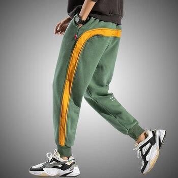 Side Striped Sweatpants Men 2020 Brand New Jogger Pants Men Fashion Streetwear Hip Hop Trousers Male Loose Fit Harem Pants 1