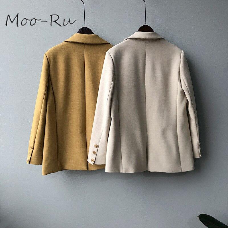 Moo-Ru 2020 Spring New Korean Version of Two Button High-end Texture Loose Temperament Small Blazer Women