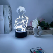 Attack on Titan Acrylic Table LED Lamp Anime for Home Room Light Kid Gift Manga Among Us Haikyuu Night Lights Levi Ackerman