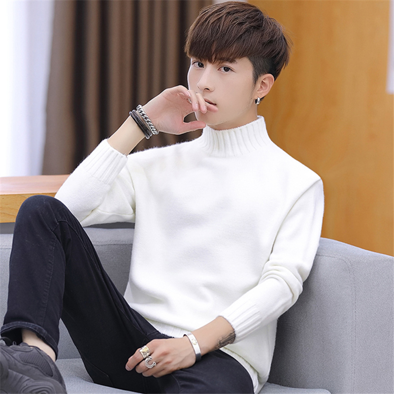 2020High Collar Knitting Render Unlined Upper Garment Of Qiu Dong Season And Male Thickening Joker More Popular Color