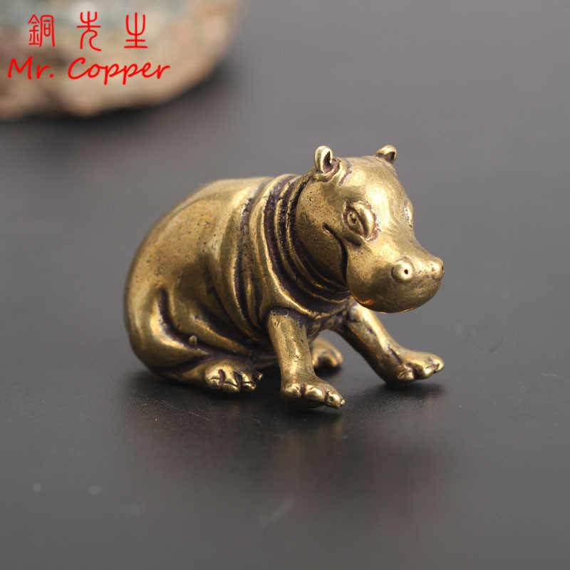 UNIQUE BRONZE STATUE FIGURINES ANIMAL PIG HANDICRAFT COLLECTION SOLID GIFT