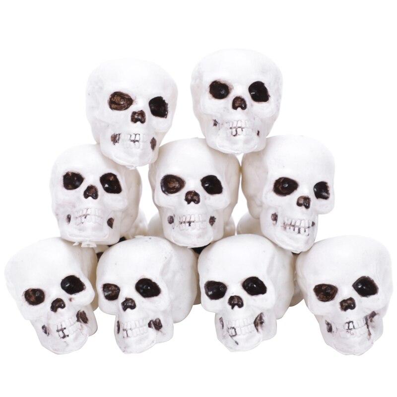 12Pcs a Lot Mini Size Skull Halloween Props Grave Yards Decorations|Figurines & Miniatures| |  - title=