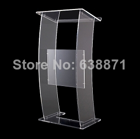 Free Shiping High Quality Modern Design Lucency Acrylic Lectern/Podium