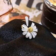 2020 nova primavera colorido esmalte margarida flor do vintage elegante simples abertura anéis mulheres boho chique dedo anel de jóias presente festa