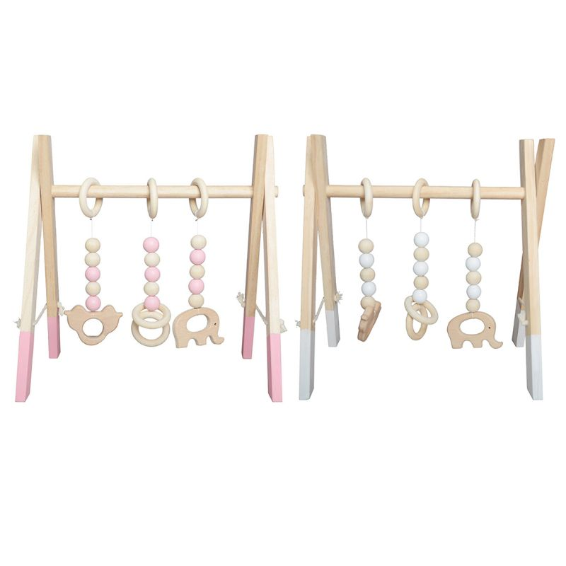 Simple Nordic Wooden Newborn Fitness Rack Children Room Decorative Toys Photography Props Home Decoration Baby Clothes Frame