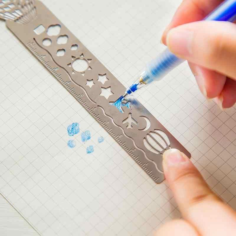 4 teile/los Hohl Metall Retro Lesezeichen papelaria boekenlegger Lesezeichen Buch Clip Büro Schule Lieferungen Schreibwaren Lineal 01412