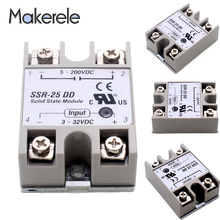 Free Shipping Solid State Relay Module SSR-25DD Actually 3-32 DC TO 5-60 DC SSR 25DD CE Standard From Top Brand Maker New free shipping 1pcs al60a 300l 033f25 power module the original new offers welcome to order yf0617 relay