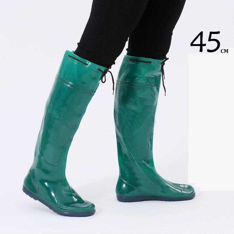 New Male Knee High Rain Boots Women Water Fields Transplanting Shoes Rubber Boots Fashion Men Fishing Shoe TPR Sole