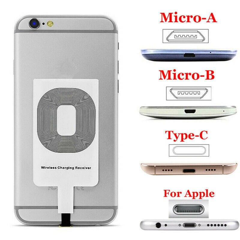 Универсальное Qi Беспроводное зарядное устройство адаптер Быстрая зарядка приемник для iP Sam Android для всех типов C iOS смартфонов планшетов Подставки и держатели      АлиЭкспресс