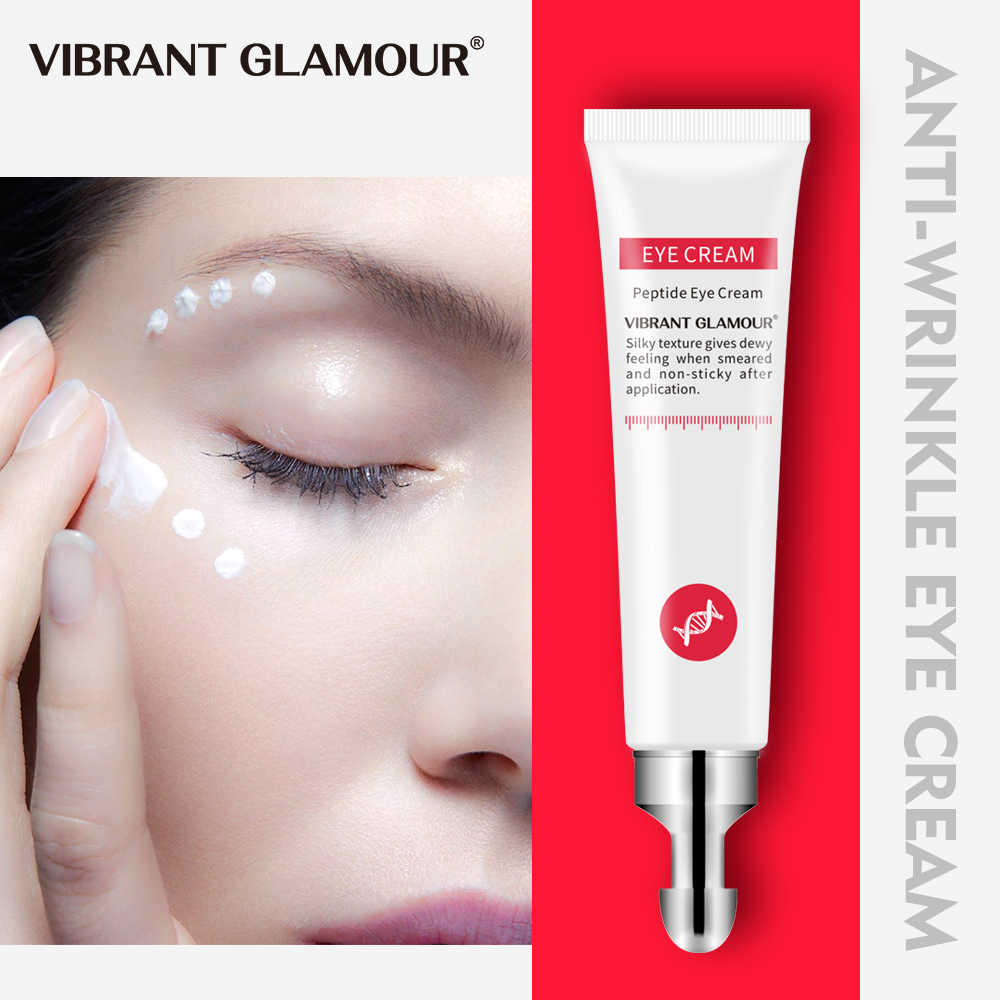 VIBRANT GLAMOUR Eye ครีม Peptide Collagen Serum Anti-Wrinkle Anti-Age Remover Dark Circles Eye Care กับอาการบวมและกระเป๋า