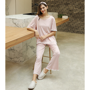 Image 3 - FINETOO Autumn Women Pajamas Sets Pink O Neck Homewear Large Size Girls Sleepwear Womens Pijamas Suit Home Clothes Pyjama Femme
