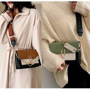 Image 5 - Women new mini handbags fashion ins ultra fire retro wide shoulder strap messenger bag purse simple style female Crossbody Bags