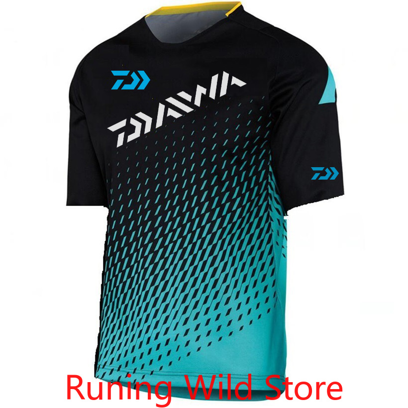 2020 DAIWA Fishing Clothes Summer Fishing Clothing Quick Drying Breathable Anti UV Sun Protection Short Sleeve Fishing T-Shirt