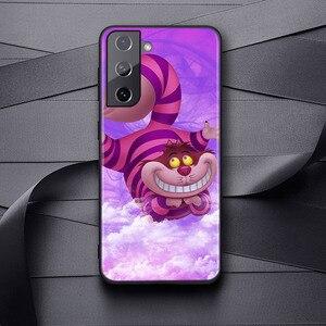 Image 3 - רך כיסוי צ שייר חתול אליס לסמסונג גלקסי S21 S20 FE Ultra S10 S10e לייט S9 S8 S7 קצה בתוספת טלפון מקרה