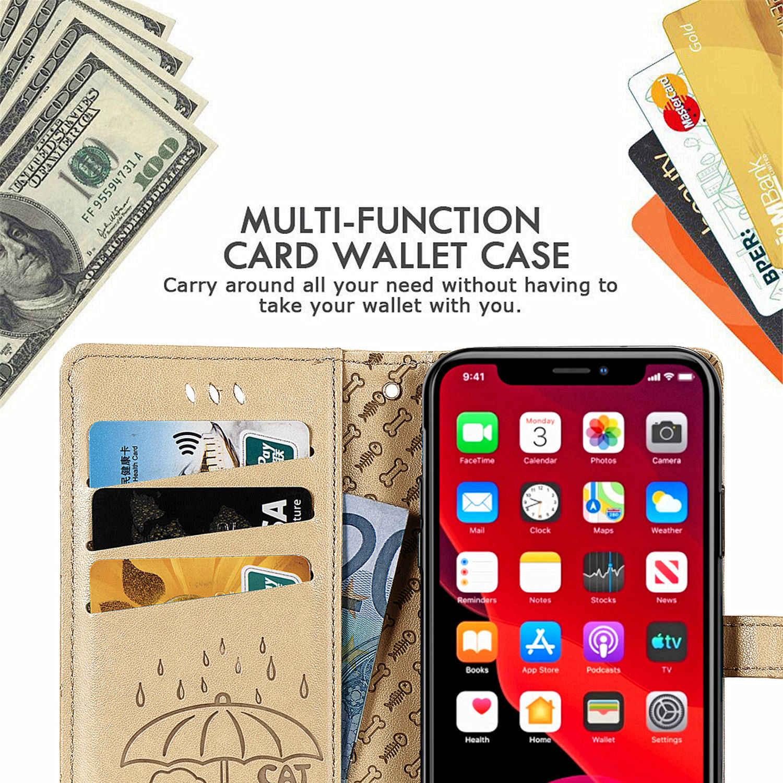 """Estuches para móvil estojo iPhone 11 Pro Max gatito, Funda de cuero PU celular, funda, accesorio iPhone, carcasa 11 Pro Max 6,5 """"2019"""