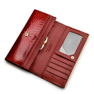 Image 3 - HH Alligator Womens Wallets Luxury Patent Fashion Genuine Leather Ladies Clutch Purse Hasp Long coin Multifunctional purses