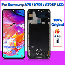 Original For Samsung Galaxy A70 LCD Display A705F Screen Touch Digitizer For Samsung A705 A70 2019 Screen Replacement Parts
