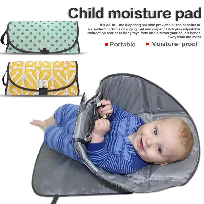 Baby Diaper Bag Waterproof Changing Pads  Double Zipper Mummy Wet/Dry Bag Waterproof Cloth Diaper Backpack Reusable Nappies Bag