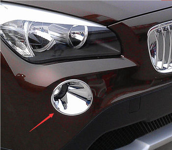 цена на CHROME FRONT FOG LIGHT COVER TRIM MOLDING GARNISH LAMP FIT FOR BMW X1 E84 2009 2010 2011 2012 LF1