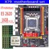 Zestaw płyt głównych qiyida X79 z Xeon LGA2011 E5 2620 4x4GB = 16GB 1333MHz pamięć DDR3 ECC REG MATX NVME LGA2011 płyta główna X79 6M