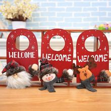Get more info on the Christmas Wood Welcome Door Hanging Sign Cute Dolls Door Handle Tag Xmas Santa Claus Elk Snowman Home Party Shop Decoration CM