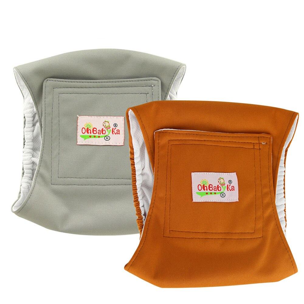 OhBabyKa-couche en tissu lavable et réutilisable | Couche-culotte lavable et hygiénique pour chien masculin, short caleçon long pour chien de compagnie, nappe pour livraison directe