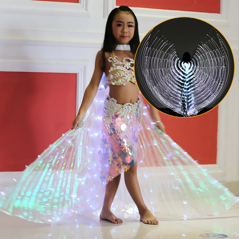 LED Isis Wings Belly Dance Luminous Performance Dancing Costumes Egypt Wings