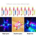 10 шт. открытый ночное детские светящиеся игрушки с рогаткой блестящие ракета флэш-светодиодный светильник с эффектом рогатки эластичный ве...