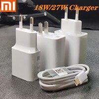 Original xiaomi ladegerät 27W 18W Schnelle ladung 3 0 4 0 UNS EU Adapter Typ C kabel Für xiaomi Mi9 pro se 8 6 Redmi hinweis 7 8 K20 Pro|Handy-Ladegeräte|   -
