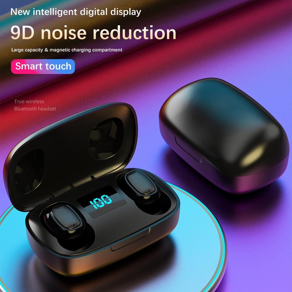 <font><b>TWS</b></font> Bluetooth Earphone With Microphone LED Display Wireless Bluetooth Headphones Earphones Waterproof Noise Cancelling Headsets image
