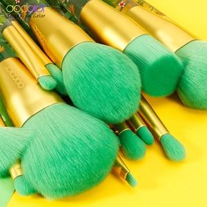 Image 3 - Docolor 14 pçs pincéis de maquiagem conjunto beleza fundação pó sombra compõem escova cabelo sintético cosméticos compõem escova ferramenta