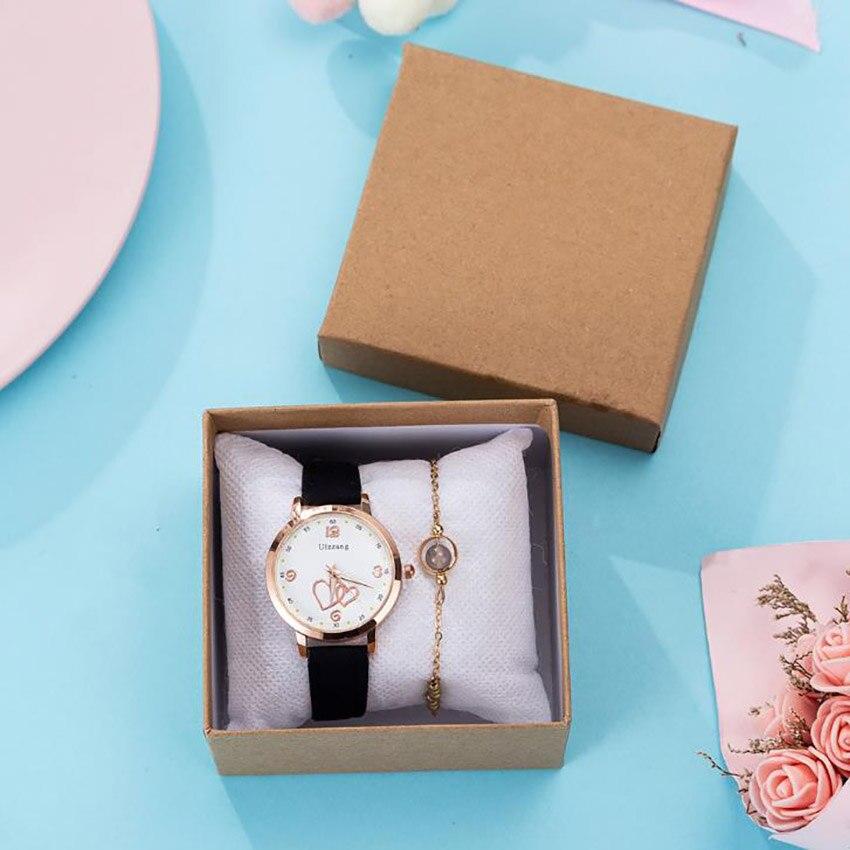 2020 Christmas gift Mens Watches 2pcs/set Watch Gift Wrap Bracelet
