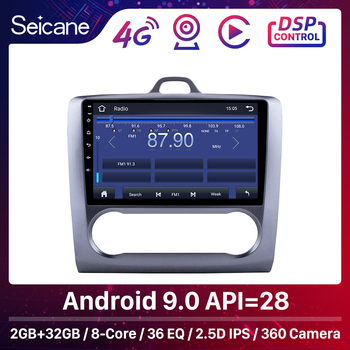 Seicane 2GB Android 9.0 8-Core Car Radio GPS Unit Multimedia Player 9 For 2004-2011 Ford Focus Exi AT With 4G DSP IPS Carplay image