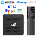 ТВ-приставка TOX1 Android 9 Smart Tv Box 4 ГБ 32 ГБ Amlogic S905X3 Dual Wifi 1000 м BT4.2 4K медиаплеер Поддержка Dolby Atmos Audio