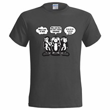 3 WISE MONKEYS SWEARING FUNNY MENS T SHIRT THREE SEE NO EVIL HEAR SPEAK PARTY(China)