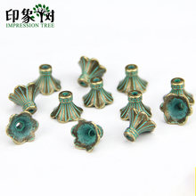 1pcs 9*12mm Verdigris Patina Plated Alloy Torus Spacer Charms Gasket Accessories For DIY Jewelry finding 989(China)