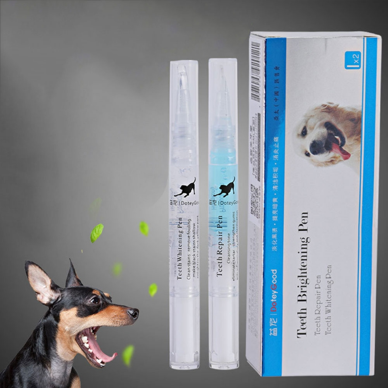 3/5ml Pets <font><b>Dog</b></font> Grooming Whitening Pen Teeth Cleaning Pen <font><b>Dogs</b></font> Cats Natural Plants Tartar Remover Tool Suitable for All Pets image