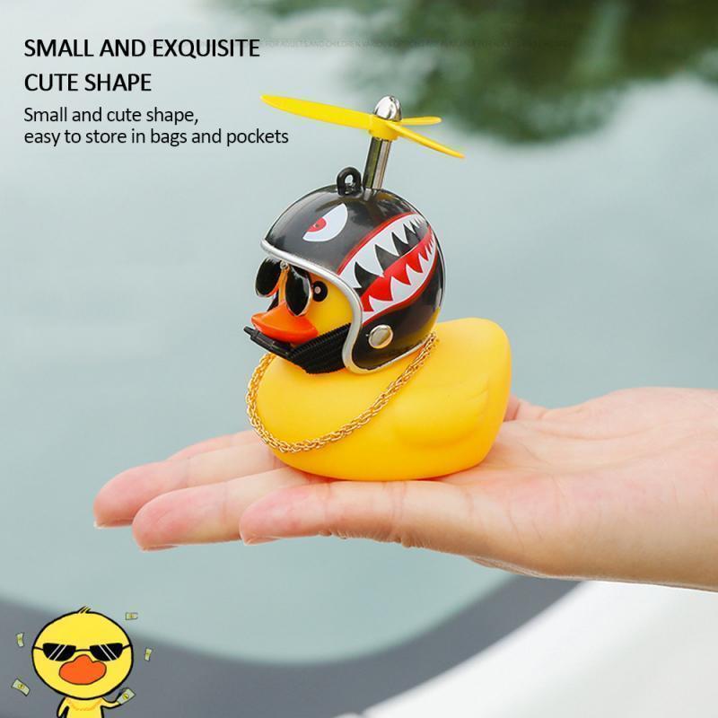 Ducky Light Horn Car Duck with Helmet Broken Wind Small Yellow Duck Helmet Riding MTB Cycling Accessories Dropshipping