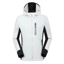 Fashion Jacket Men Winter Hooded Softshell Windproof Waterpr