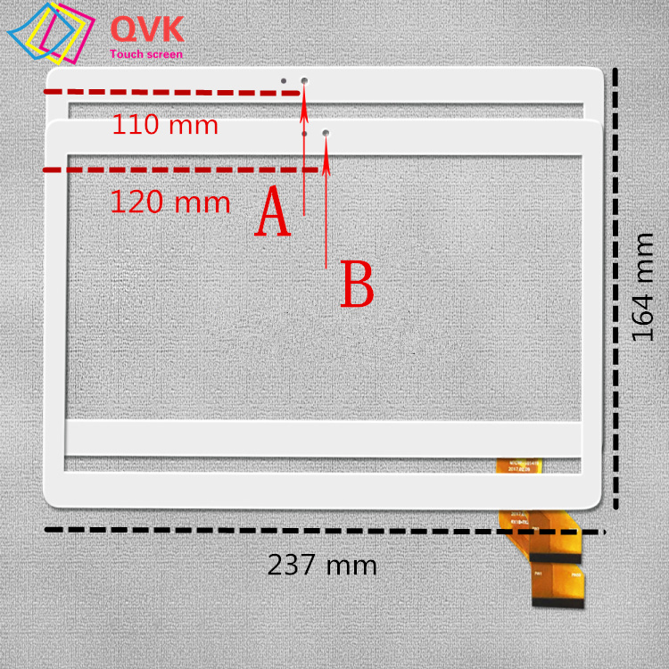Black White Touch Screen For MediaTek Bk109 Capacitive Touch Screen Panel Repair Replacement Parts
