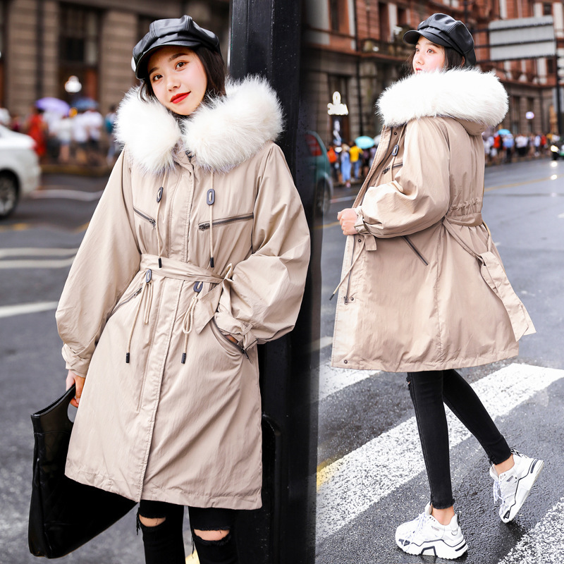 Hot sale jacket in the cotton padded clothes and women long yards cultivate morality cotton padded jacket Down   parka